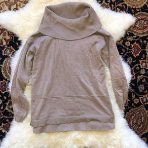Beige Cowl Neck Sweater by Verve Ami